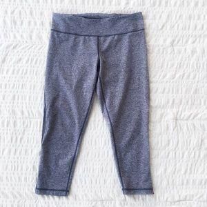 Zella Heathered Grey Capri Workout Leggings L